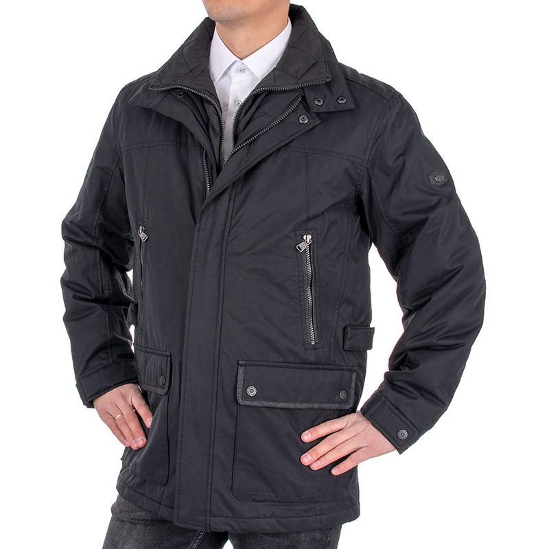 Czarna zimowa kurtka Kings Canson 21C*650-150 kolor 01 black