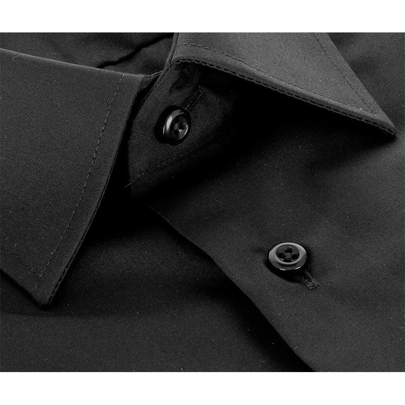 Czarna koszula regular Comen z krótkim rękawem