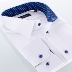 Biała gładka bawełniana koszula Comen slim 39 40 41 42 43 44 45 46