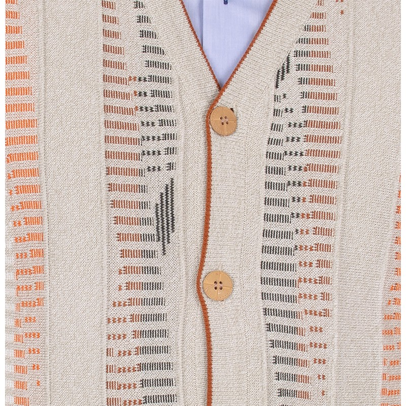 Beżowy sweter rozpinany na guziki Kings 63202 kolor 300