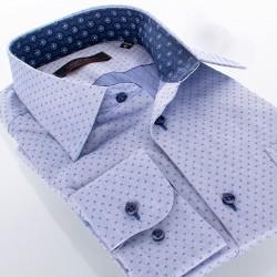 Jeansowa koszula Comen regular wzór dł. rękaw 39 40 41 42 43 44 45 46