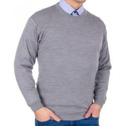 Sweter wełniany Kings Max Sheldon 10442 kolor 4226 popiel M L XL 2XL