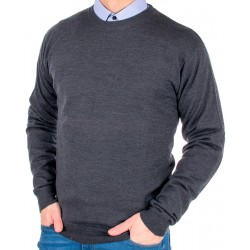 Grafitowy sweter Kings Max Sheldon 10442 kolor 1255 wełna M L XL 2XL