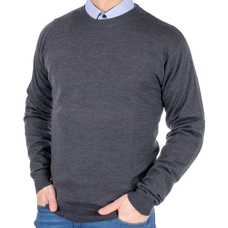 Grafitowy sweter u-neck Kings Elkjaer 11K 2460 kolor 196