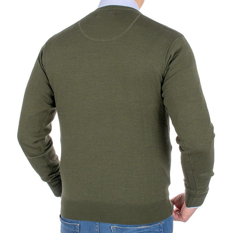 Zielony sweter u-neck Kings Elkjaer 11K 2460 kolor 174