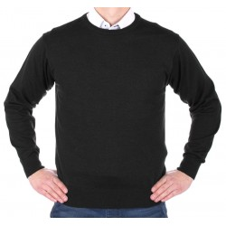 Sweter u-neck Kings 100*S-401 4007 czarny 340 roz. M L XL 2XL 3XL