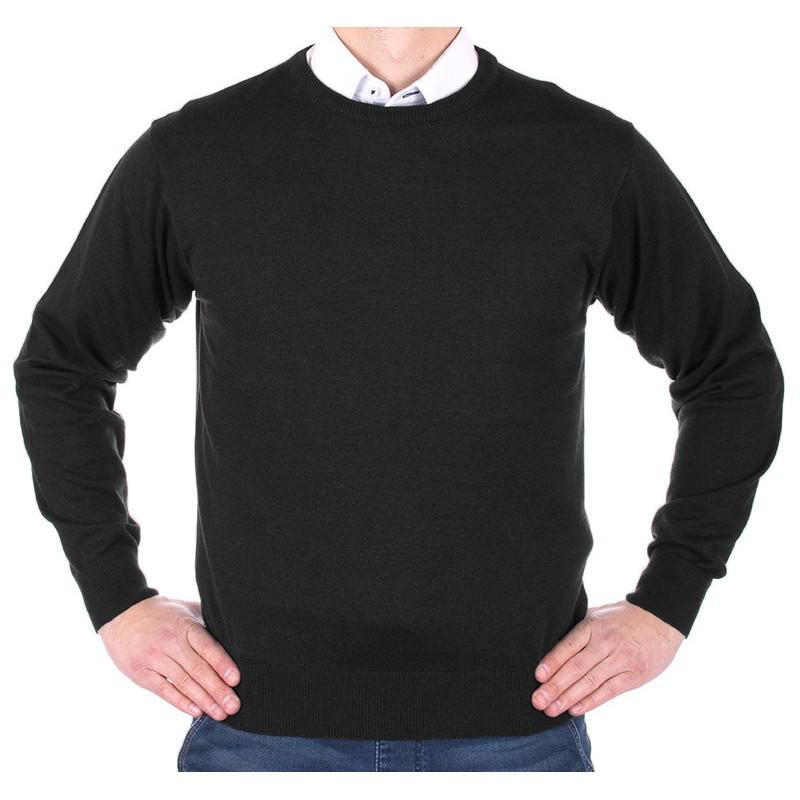Sweter u-neck Kings 100*S-401 4007 czarny 340 - bawełna