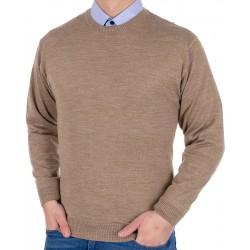 Beżowy sweter Kings Max Sheldon 10442 kolor 4608 wełna roz. M L XL 2XL