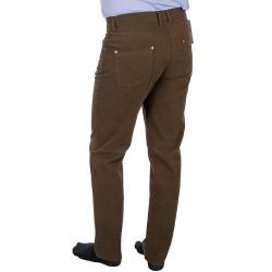 Brązowe zwężane spodnie Lord R-533 ze 100% bawełny roz. 82-112 cm
