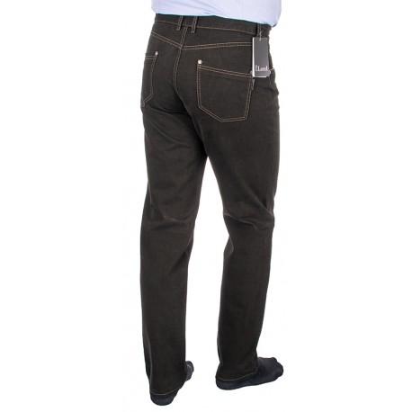 Ciemnobrązowe zwężane spodnie Lord R-532 ze 100% bawełny