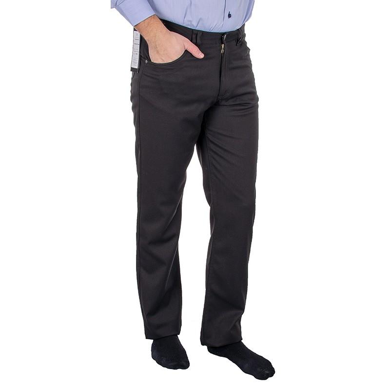 Czarne niezwężane spodnie Lord Sp.WB wełniane bezkantowe