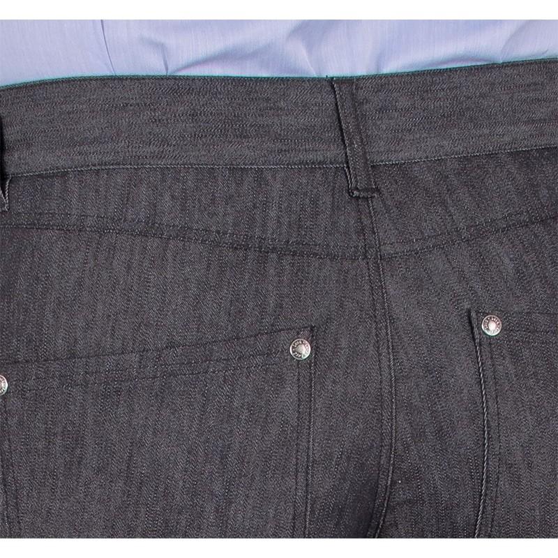 Niezwężane spodnie Lord Sp.WJ szarojeansowe bawełniane