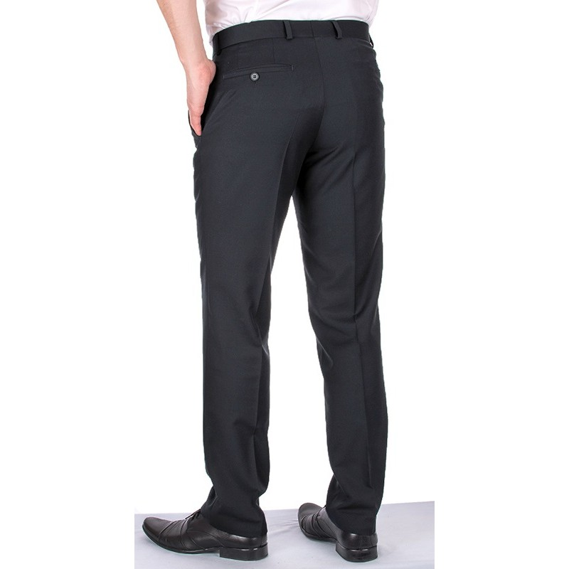 Ciemnografitowe spodnie wizytowe w kant Asta wełniane