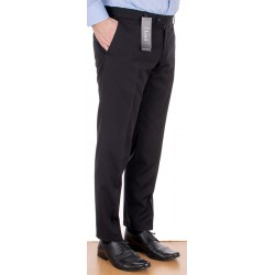 Czarne wełniane spodnie Lord Sp.059 w kant zwężane roz. 84 -112 cm