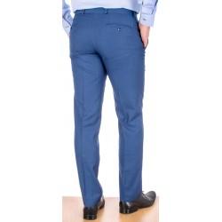 Niebieskie spodnie wizytowe Lord zwężane wełniane w kant r. 84-114 cm