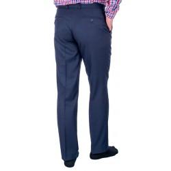 Wełniane niezwężane spodnie wizytowe Lord granatowe roz. 82-112 cm