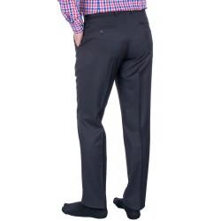 Granatowe niezwężane spodnie wizytowe Lord wełniane roz. 80-112 cm