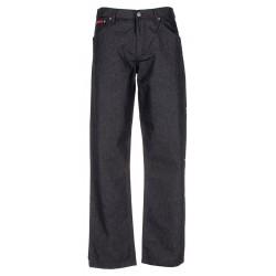 Niezwężane spodnie Lord Sp.A czarne nakrapiane bawełna roz. 82-112 cm
