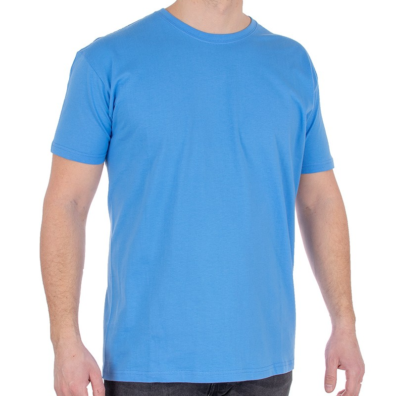 Błękitny bawełniany t-shirt Kings 750-101