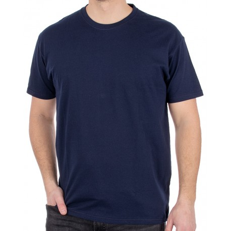 Granatowy bawełniany t-shirt Kings 750-101