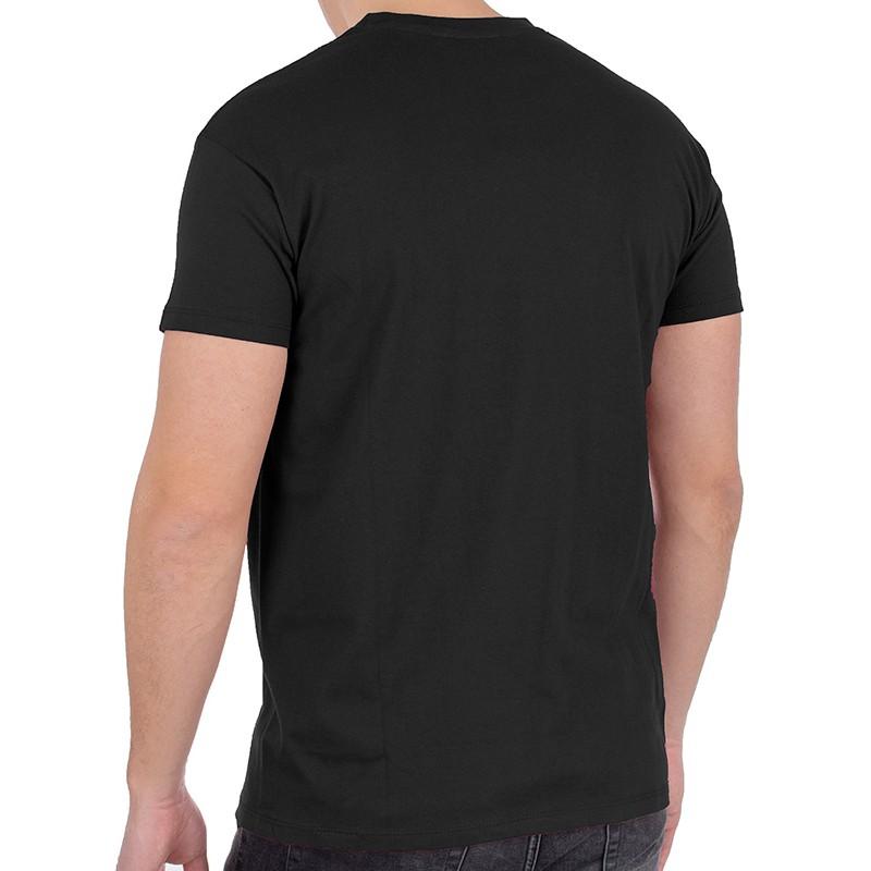 Czarny bawełniany t-shirt Kings 750-101