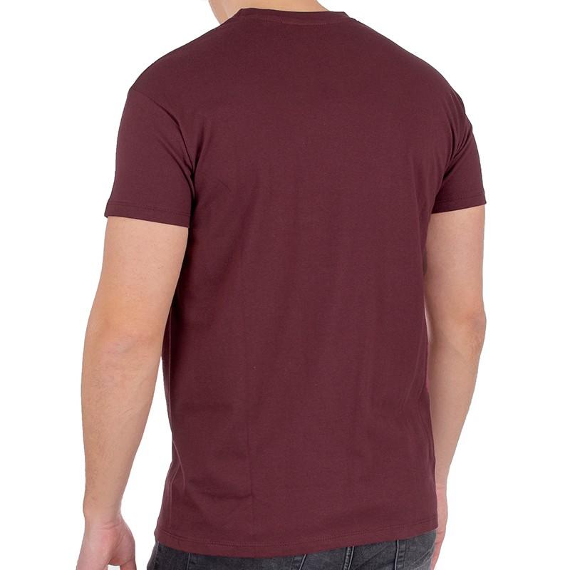 T-shirt Kings 750-101 ciemny bordowy