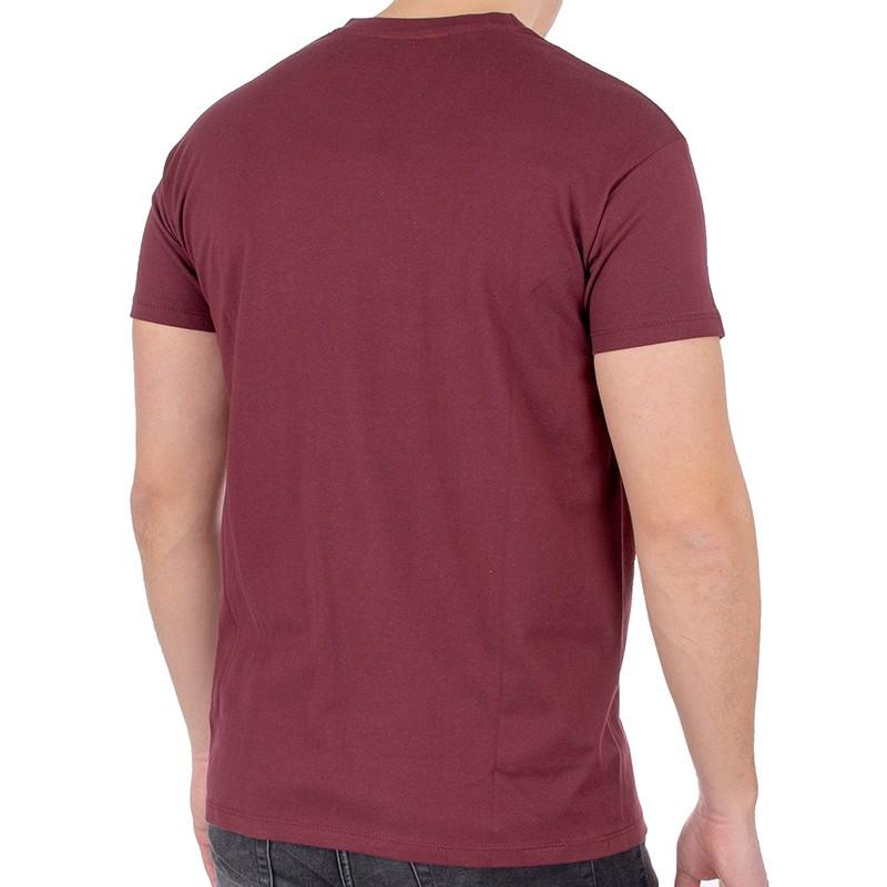 Bordowy bawełniany t-shirt Kings 750-101