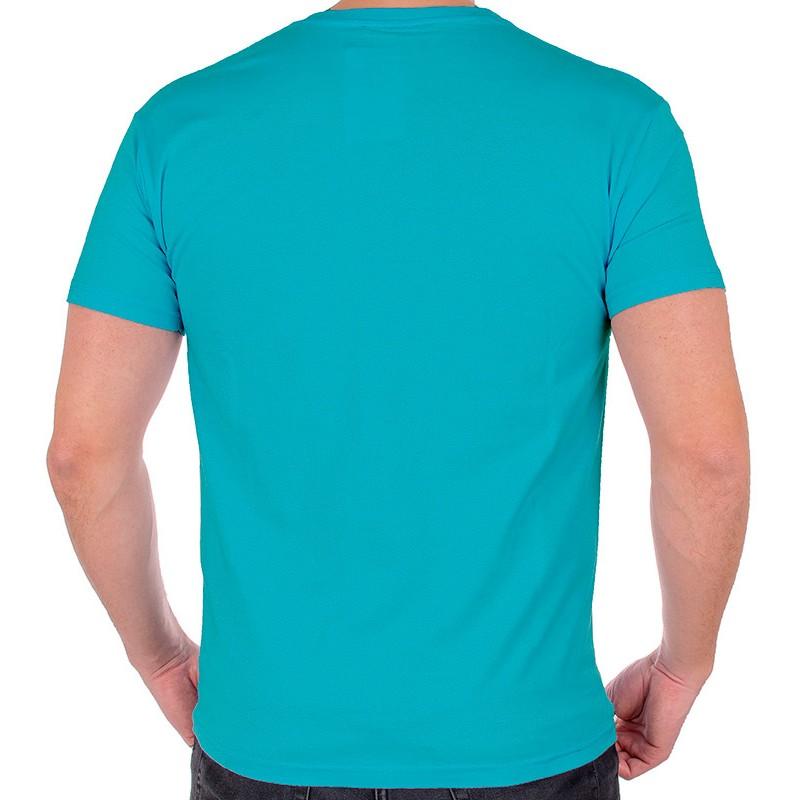 T-shirt Kings 750-101 turkusowy - bawełniany
