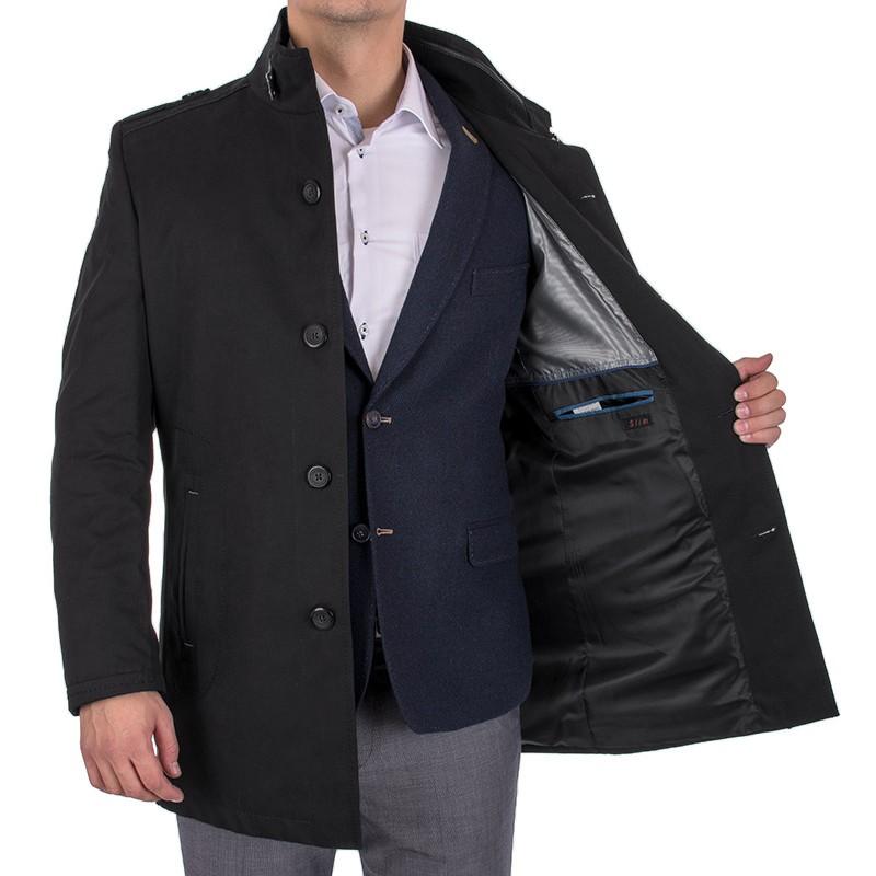 Wiosenny płaszcz Lansier Cezar II czarny