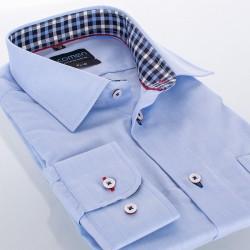 Koszula długi rękaw Comen slim niebieska r. 39 40 41 42 43 44 45 46