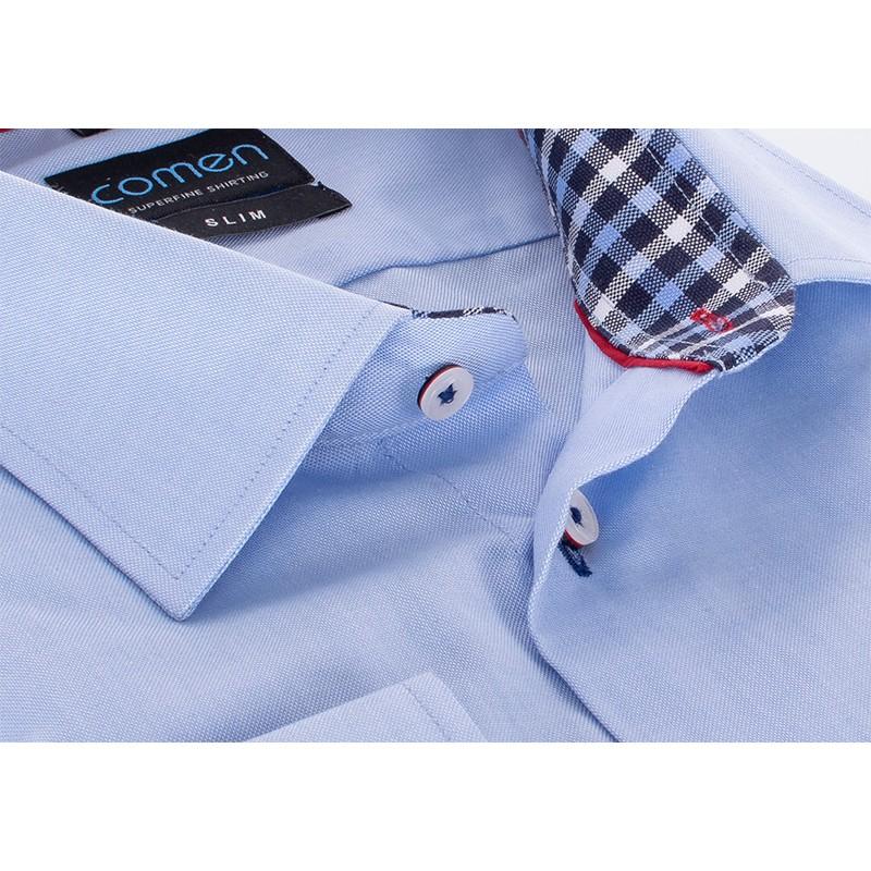 Niebieska koszula Comen z długim rękawem - slim