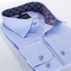 Błękitna koszula Comen slim z długim rękawem 39 40 41 42 43 44 45 46