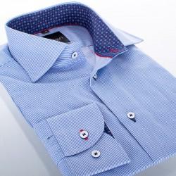 Koszula długi rękaw Comen slim niebieska w paski r. 39 40 41 42 43 44