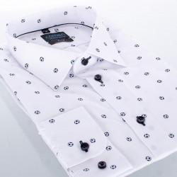 Biała taliowana koszula Comen w piłki roz. 39 40 41 42 43 44 45 46
