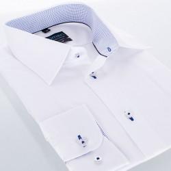 Biała gładka koszula Comen taliowana z wykończeniem 39 40 41 42 43 44