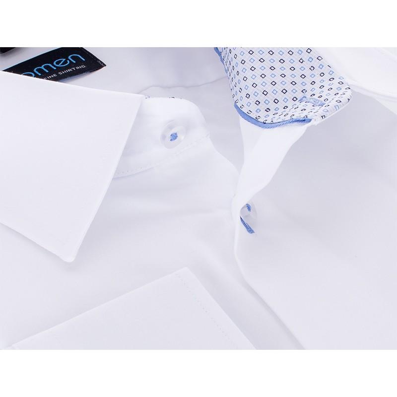 Biała koszula Comen z dł. rękawem - regular