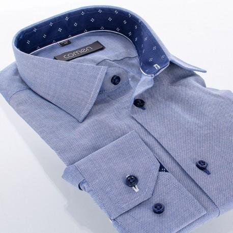 Jeansowa gładka bawełniana koszula Comen slim