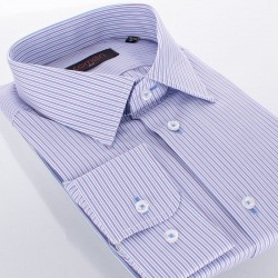 Niebiesko-fioletowa koszula Comen w paski r. 39 40 41 42 43 44 45 46