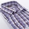 Koszula Comen w granatowo-fioletową kratkę z długim rękawem