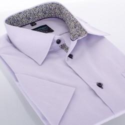 Koszula krótki rękaw Comen slim wrzosowa 39 40 41 42 43 44 45 46