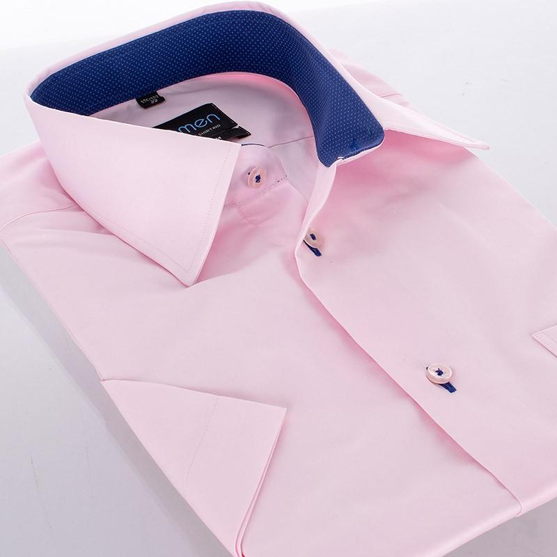 Koszula z krótkim rękawem pudrowy różowy