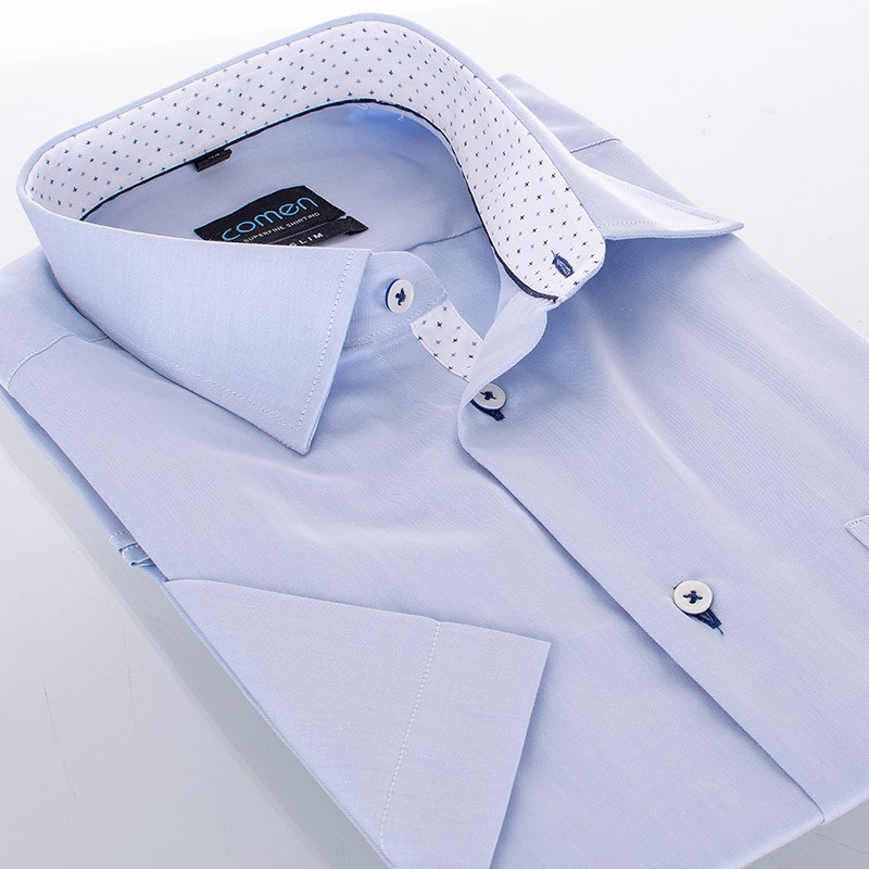 Koszula krótki rękaw Comen jasnoniebieska