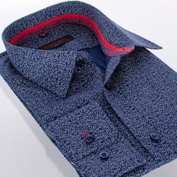 Granatowa koszula Comen slim paisley długi rękaw 39 40 41 42 43 44 45