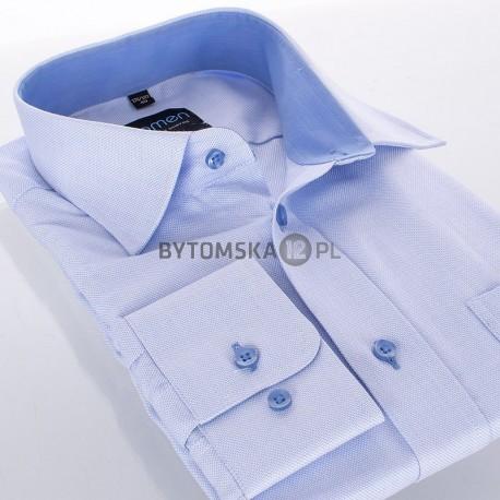 Koszula regular Comen długi rękaw niebieska