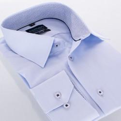 Koszula slim Comen długi rękaw niebieska rozmiar 39 40 41 42 43 44