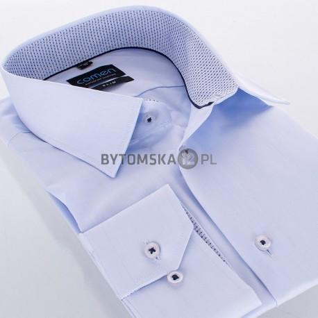 Niebieska koszula Comen długi rękaw slim