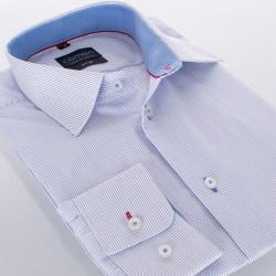 Koszula Comen slim biała w paski z dł. rękawem 39 40 41 42 43 44 45 46