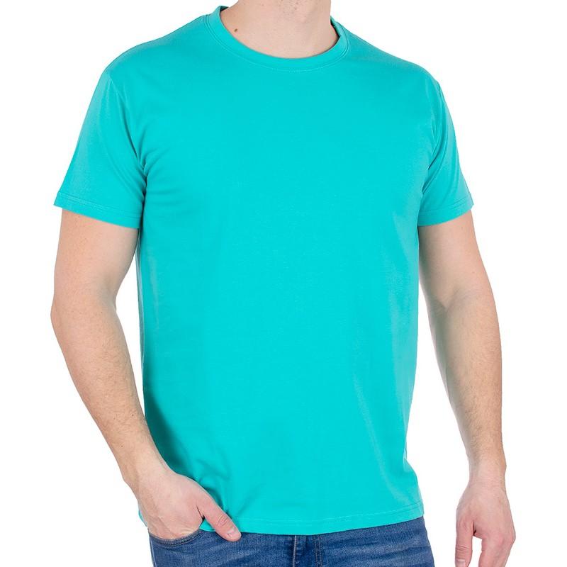 T-shirt Kings 750-101 bawełniany - morski jasny