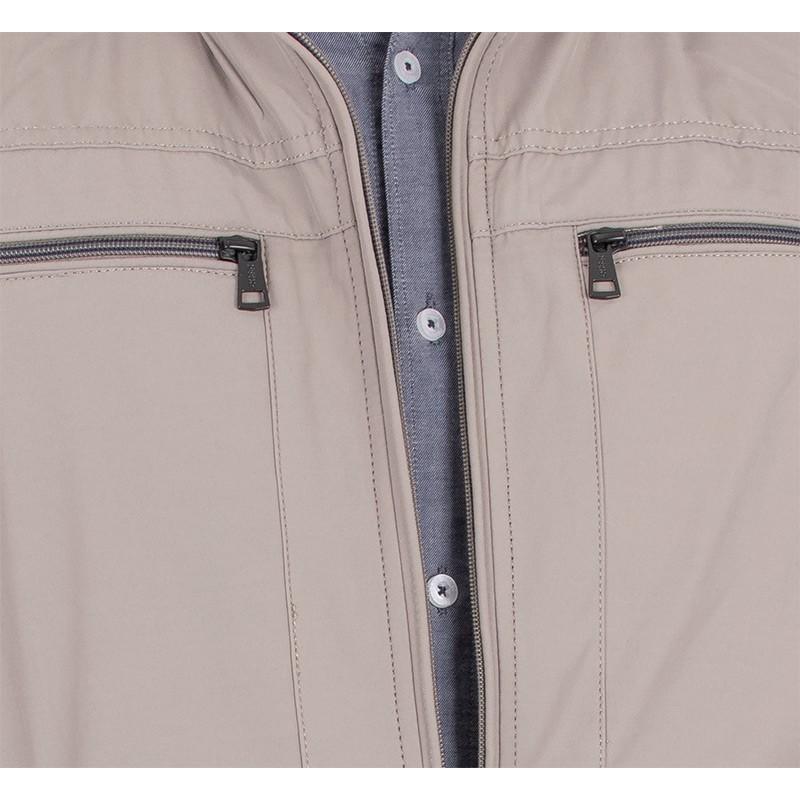 Beżowa kurtka Issho M2151 kolor 16 - wiosenna