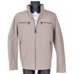 Beżowa kurtka wiosenna Issho M2152 kolor 16 rozmiar 48 50 52 54 56